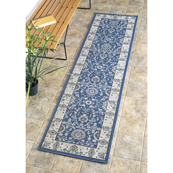 Shop Nuloom Traditional Modern Indoor Outdoor Blue Porch