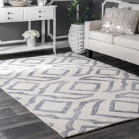 Strick & Bolton Nat Contemporary Handmade Abstract Wool Area Rug - 7'6 x 9'6