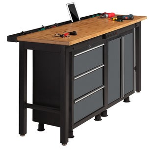 NewAge Products 72-inch Workbench with Powerbar