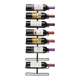 Sorbus Wall Mount 9-bottle Wine Rack