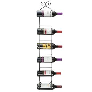 Sorbus 6-bottle Wall Mount Wine Rack