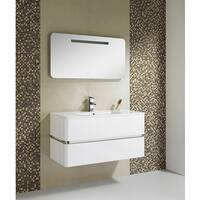 Fine Fixtures Sundance 40 -Inch White Mirror With LED