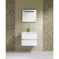 Fine Fixtures Sundance 24-inch White Mirror With LED