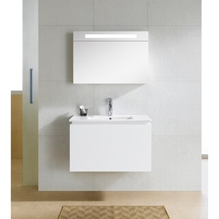 Fine Fixtures Lexington 32-inch White Mirror With LED Light