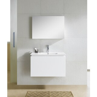 Fine Fixtures Lexington 32-inch White Mirror