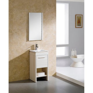 Fine Fixtures Modena 16-inch Vanity with Vitreous China Sink Top (3 options available)