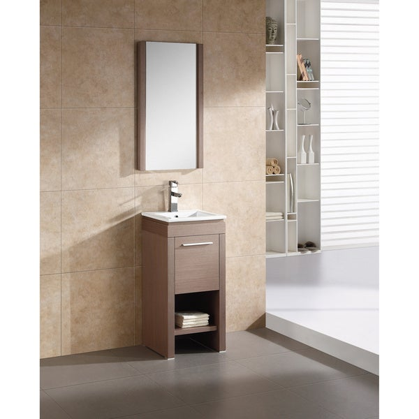 Fine Fixtures Modena 16 Inch Vanity With Vitreous China Sink Top