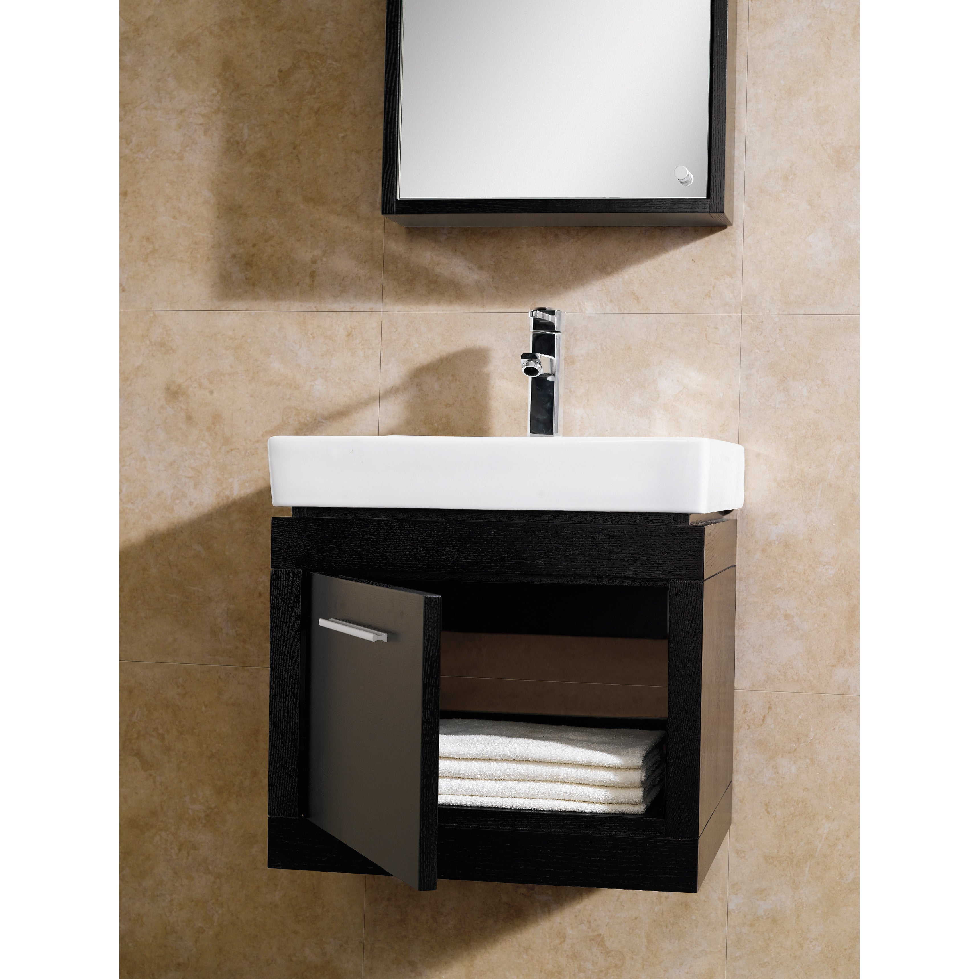 Shop Black Friday Deals On Fine Fixtures Glamour 20 Inch Vanity With Vitreous China Sink Top On Sale Overstock 10173237 Tan