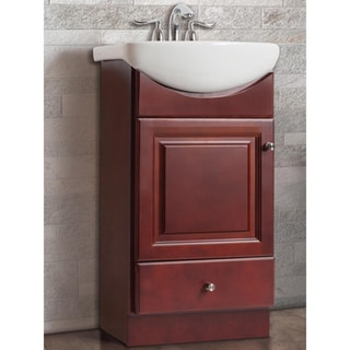 Fine Fixtures Somette Petite 16-Inch Vanity with Vitreous China Sink Top
