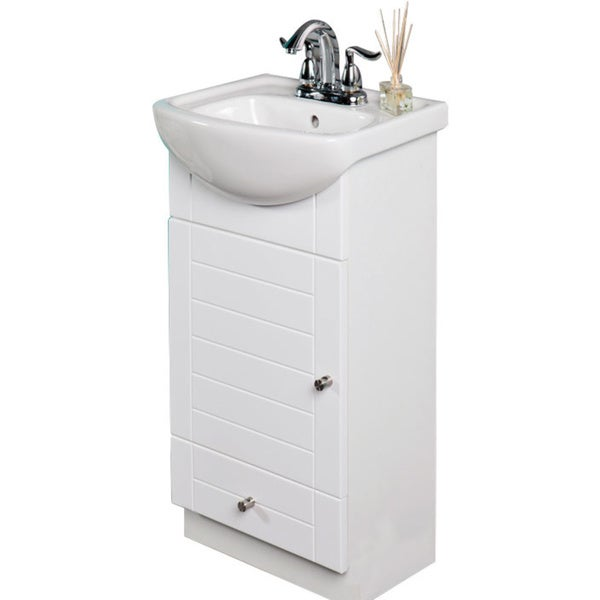 16 Inch Vanity Sink Part - 15: Fine Fixtures Petite 16-inch Vanity With Vitreous China Sink Top - Free  Shipping Today - Overstock.com - 17300618