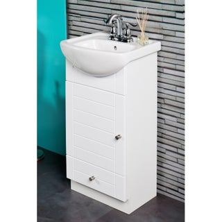 Fine Fixtures Petite 16-inch Vanity with Vitreous China Sink Top (Option: White)