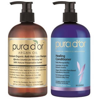 Pura d'or Premium Organic Anti-Hair Loss Shampoo and Conditioner Set