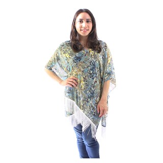 Le Nom Women's Floral Kimono With Fringe