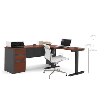 Bestar Prestige + L-Desk including Electric Height Adjustable Table