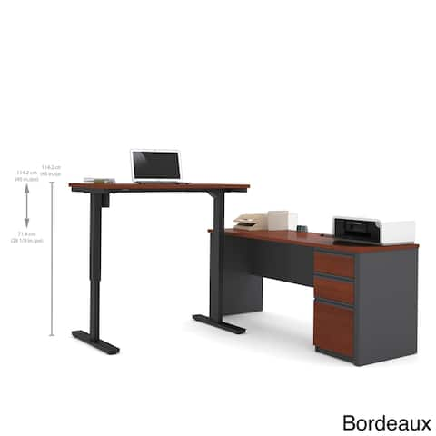 Bestar Prestige L-Desk including Electric Height Adjustable Table
