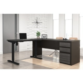 Bestar Prestige + L-Desk including Electric Height Adjustable Table