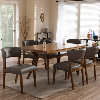Montreal Mid-Century Solid Wood 7 Pieces Dining Set
