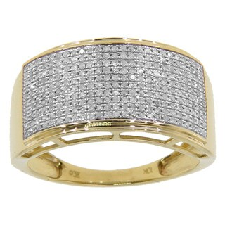 10k Yellow or White Gold Men's 3/5ct TDW Diamond Ring