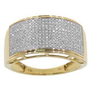 10k Yellow or White Gold Men's 3/5ct TDW Diamond Ring