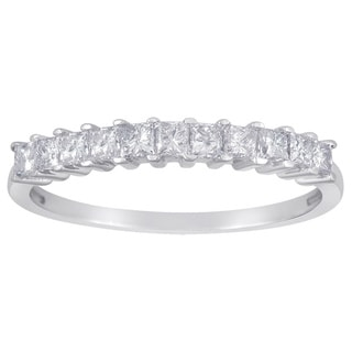 14k White Gold 1/2ct TDW Princess-cut Diamond Wedding Band (G-H, I1-I2)