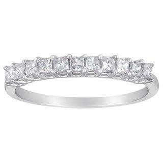 14k White Gold 1/2ct TDW Princess Diamond Wedding Band (G-H, I1-I2)
