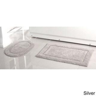 2-Piece 100 Cotton Bath Rug