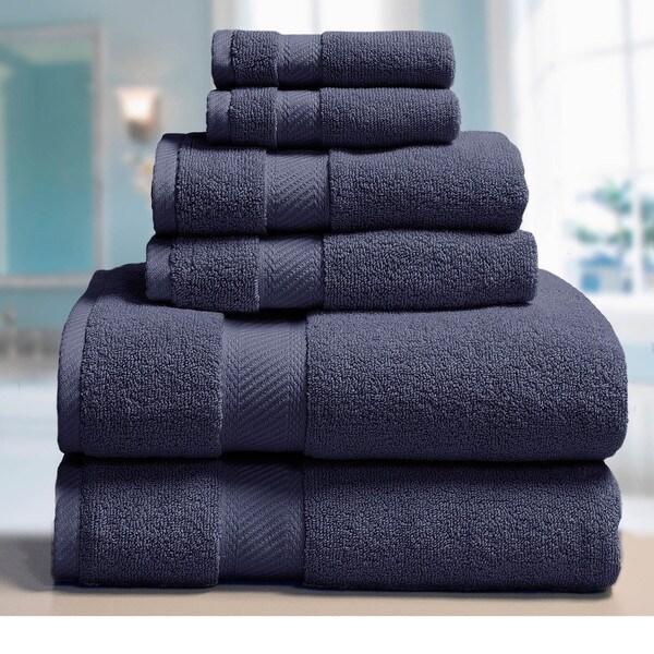 Elle 100-percent Combed Cotton 6-piece Towel Set
