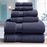 Elle 100-percent Combed Cotton 6-piece Towel Set