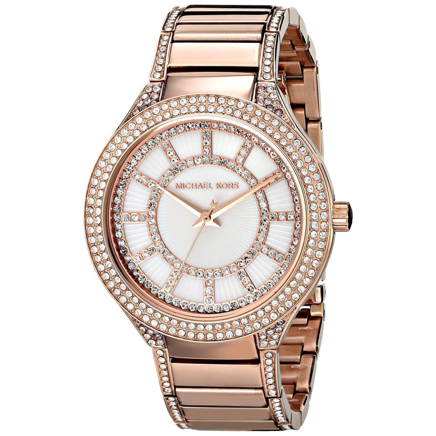 Michael Kors Women's MK3313 Kerry Round Rose Gold-tone Br...