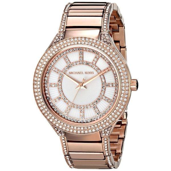 0f892949a72 Michael Kors Women  x27 s MK3313 Kerry Round Rose Gold-tone Bracelet Watch