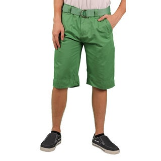 MO7 Men's Enzyme Wash Belted Chino Short