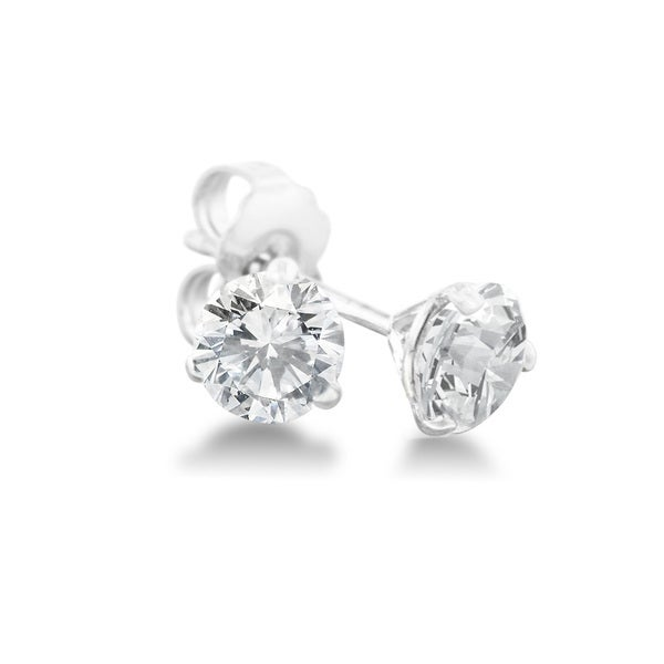 1 4 Carat Diamond Martini Stud Earrings In 14 Karat White Gold J K