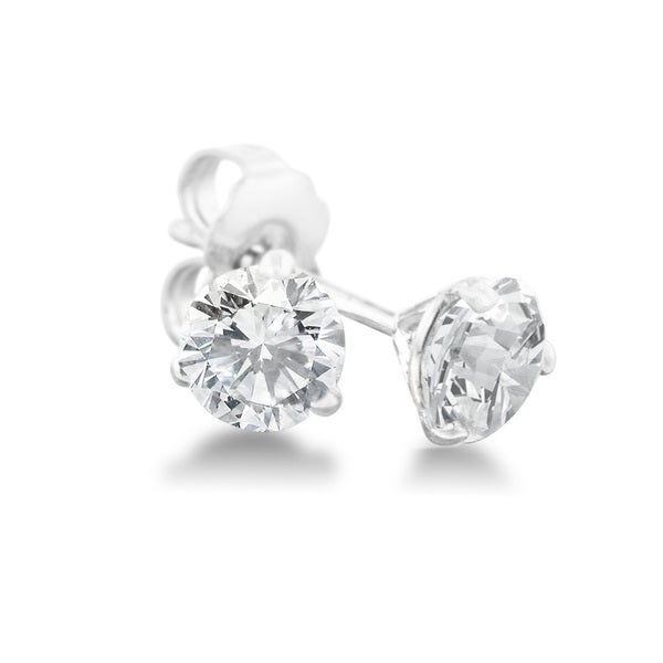 593e62441 Shop 1/2 Carat Diamond Martini Stud Earrings In 14 Karat White Gold ...