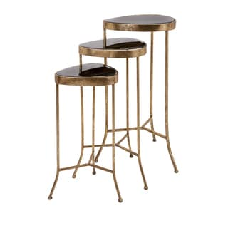 Harlow Black Mirror Nested Table (Set of 3)