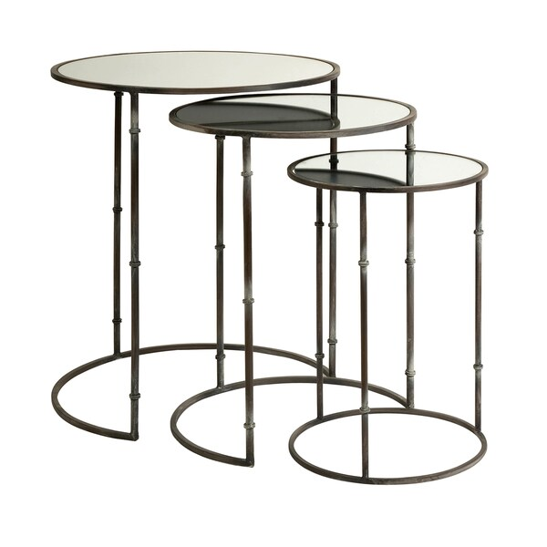 Flouressa Mirror Top Nesting Tables (Set Of 3)