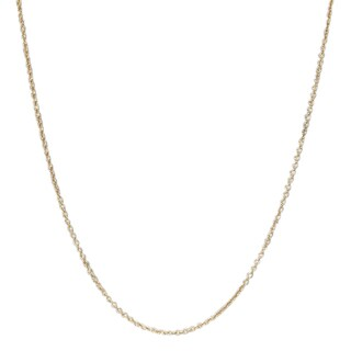 Luxiro Gold Finish Rolo 14 to 16-inch Chain Necklace