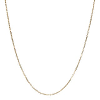 Luxiro Gold Finish Rolo 14 to 16-inch Chain Necklace - White
