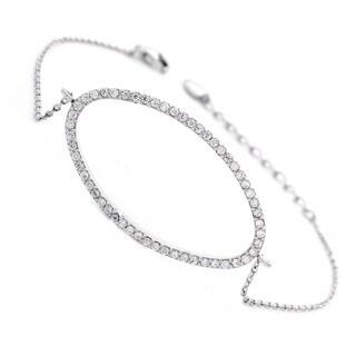 NEXTE Jewelry Open Oval Cubic Zirconia Tennis Bracelet