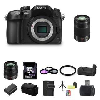 Panasonic Lumix DMC-GH4 4K Digital Camera Panasonic Lumix G X Vario 12-35mm f/2.8 Asph. Lens for Micro 4/3 (Black) 64GB Bundle