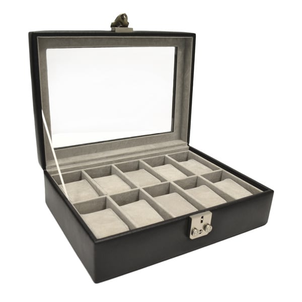 Royce Leather Debonair 10-slot Leather Watchbox