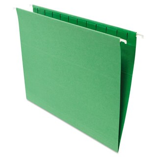 Universal One Green Hanging File Folders (Pack of 2)