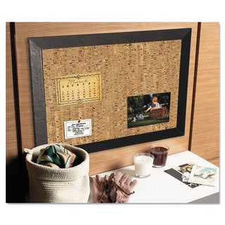 MasterVision Natural Cork/Black Bulletin Board