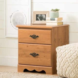 South Shore Prairie 2-Drawer Nightstand