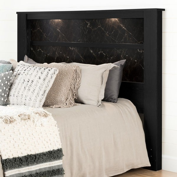 King-Size Wooden Headboard with Inset Lights - Free Shipping Today -  Overstock.com - 17302606 - King-Size Wooden Headboard With Inset Lights - Free Shipping Today