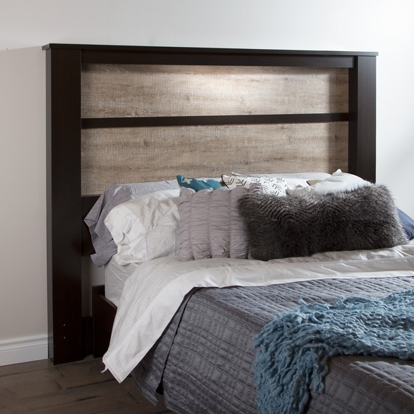 South Shore King-Size Headboard with Inset Lights