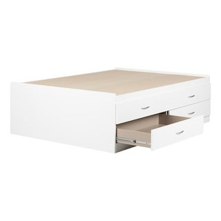 South Shore Step One Captain Bed with 4 Drawers (White)