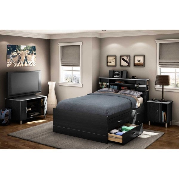 south shore cosmos full captain bed with