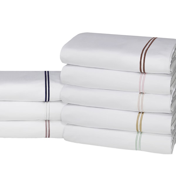 Hotel Suite 4-piece 1200 Thread Count Cotton-rich Embroidery Bed Sheet Set. Opens flyout.
