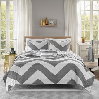 Mi Zone Gemini Reversible Grey Coverlet Set (3 options available)