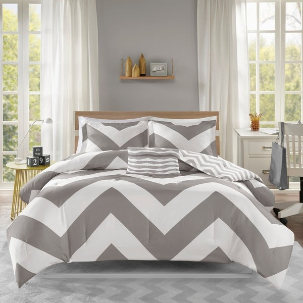 Mi Zone Gemini Grey Comforter Set